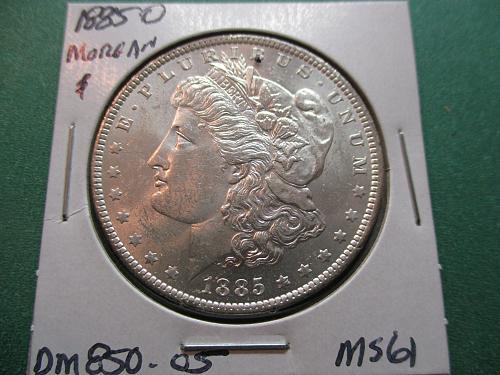 1885-O  MS61 Morgan Dollar.  Item: DM 85O-05.