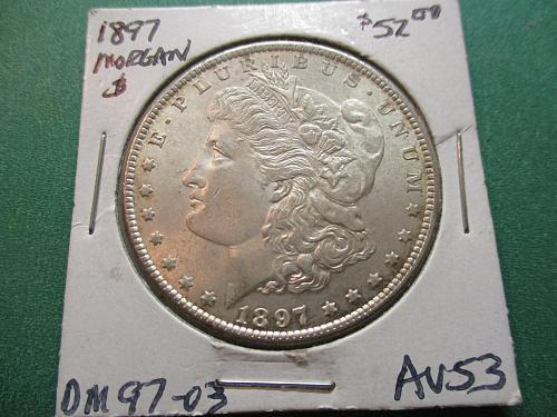 1897  AU53 Morgan Dollar.  Item: DM 97-03.