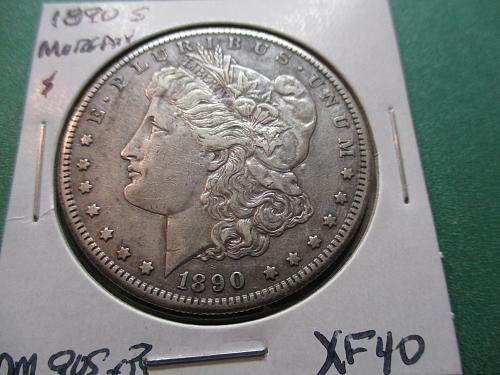 1890-S  XF40 Morgan Dollar.  Item: DM 90S-03.
