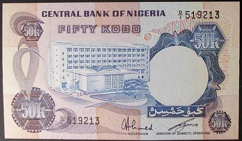 Nigeria P6 50 Kobo UNC63