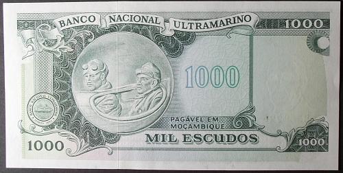 Mozambique P119a 1000 Escudos AU++