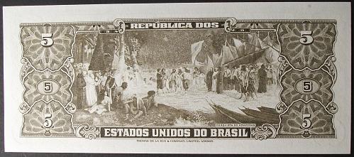 Brazil P176d 5 Cruzeiros UNC63