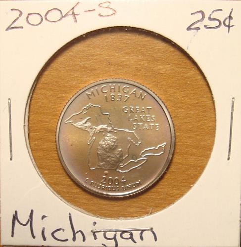 2004 S Michigan 50 States and Territories Quarter Clad Proof