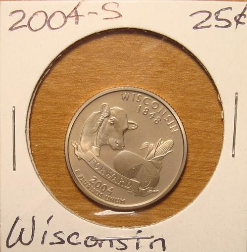 2004 S Wisconsin 50 States and Territories Quarter Clad Proof