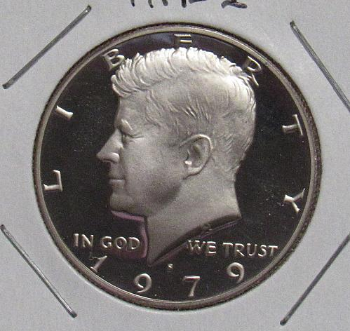 1979 S Proof Kennedy Half Dollar: Type 1 - Filled S