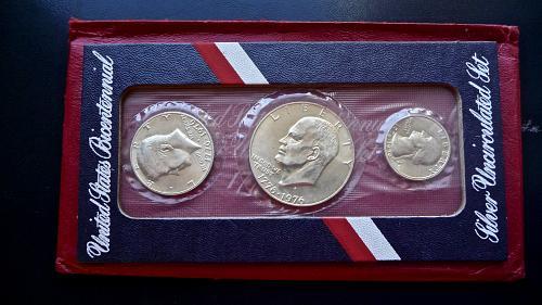 1976 Bi centennial Silver Set