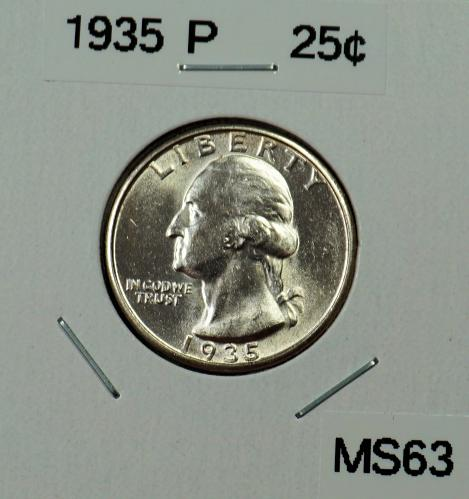 1935 P Washington Quarter