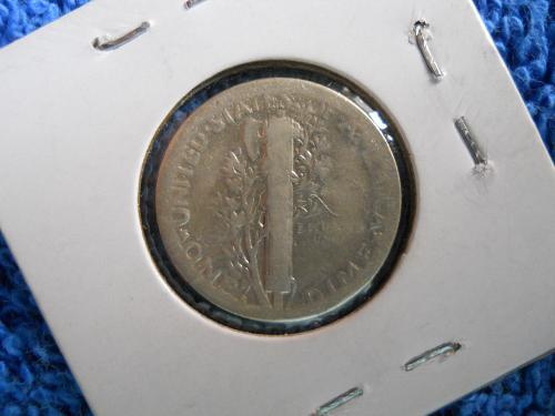1920-S Mercury Dime.  Good details.  Dipped.