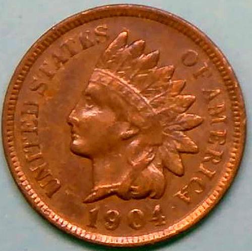 1904 Indian Head Cent Bronze Composite Penny