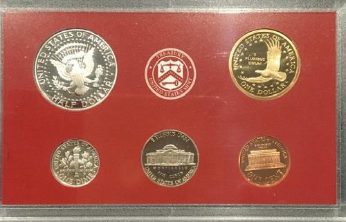 2003 Proof Set with 10 coins including 5 SILVER State Quarters, Dime & Half