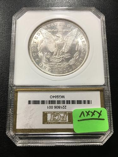 1884 O MORGAN DOLLAR PCI MS-63 - UNCIRCULATED - CERTIFIED SLAB - PCI GOLD LABEL
