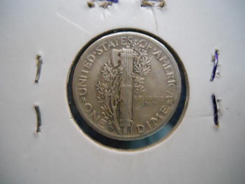 1935-D Mercury Dime.  Extremely Fine Grade. Original Surfaces.
