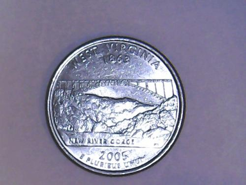 2005 P West Virginia 50 States and Territories Quarters SEE PICTURES