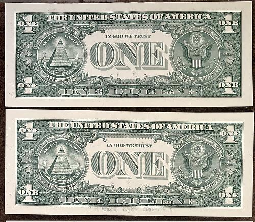 (4) Mixed High Grade XF Crisp & White 2017 $1.00 *STAR* Federal Reserve Notes