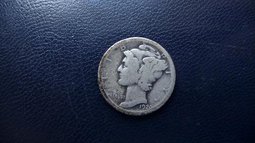 1920 Mercury Dime