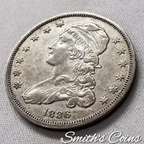 1836 Capped Bust Quarter ~ B-1, R-2 ~ XF