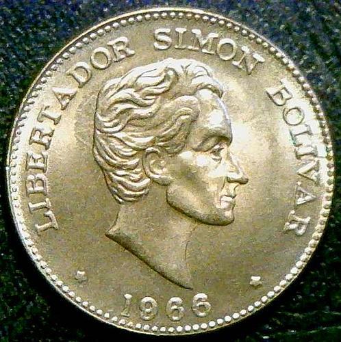 1966 Colombia 50 centavos.  V1P11R2