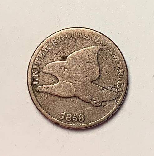 1858 LL Flying Eagle Cent  [FE 16]