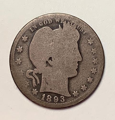 1893-O Barber Quarter.   [BSWQ 382]