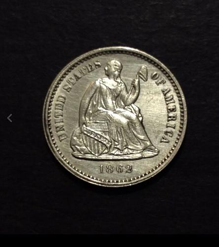 1862 P Seated Liberty Half Dime, AU/MS imo, awesome coin! see pics and descripti