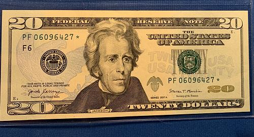 $ 20.00 **STAR NOTE** Series 2017 A  FRN Crisp and like new. DM