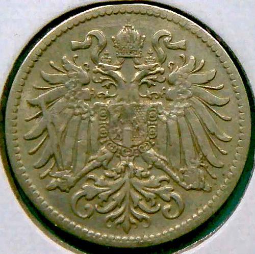 1916 Austria 10 Double Eagle Heller  V1P11R3