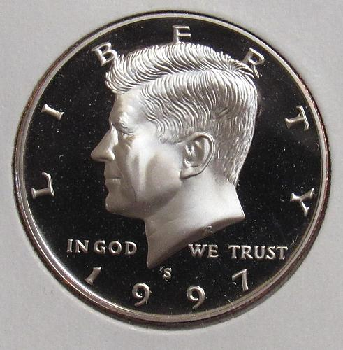 1997 S Proof Kennedy Half Dollar