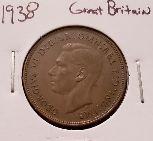 1938 Great Britain One Penny
