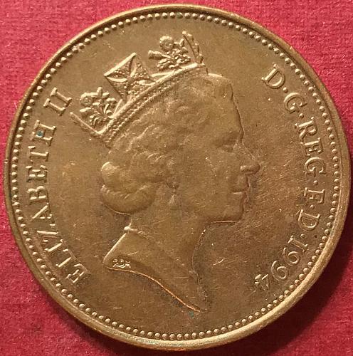 Great Britain - 1994 - 2 Pence [#1]