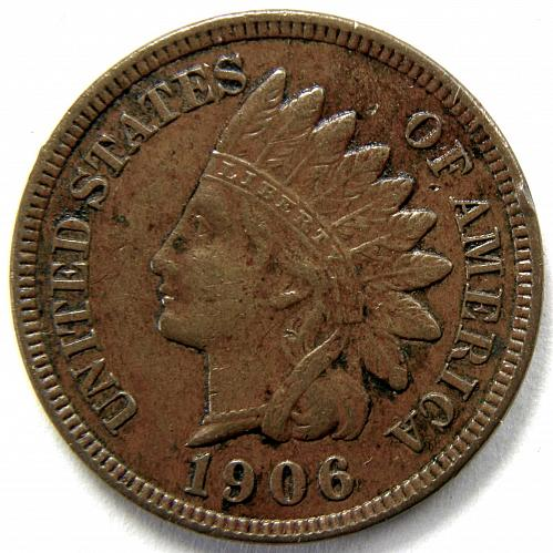 1906 P Indian Head Cent #6