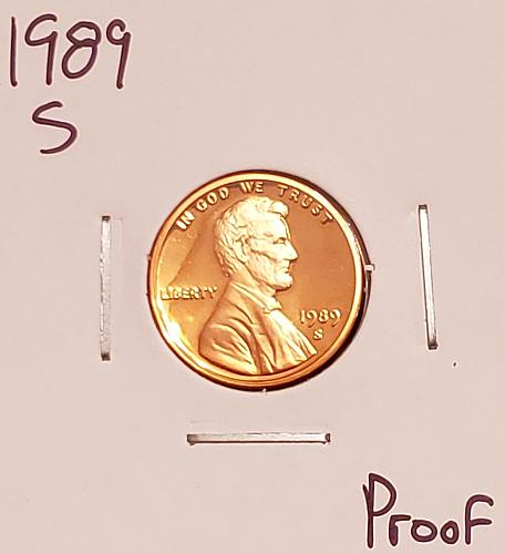 1989 S Lincoln Memorial Cent Small Cent