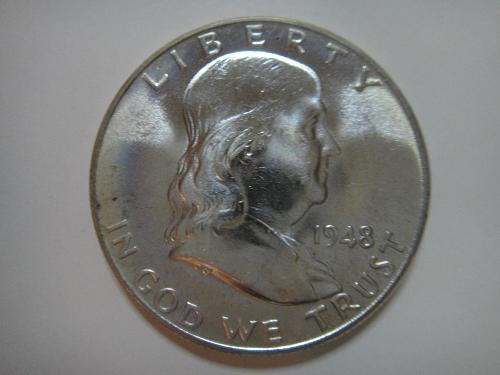 1948 Franklin Half Dollar MS-65 (GEM) Very Obvious Attractive LUSTER!