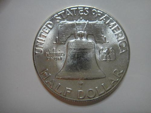 1949-D Franklin Half Dollar MS-63 (Choice BU) About Half of Bell Lines Complete!
