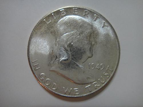 1949-S Franklin Half Dollar MS-63 (Choice BU) KEY DATE Interesting Toning!