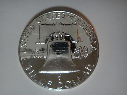 1959 Proof Franklin Half Dollar Proof-65 (GEM) Near Full Bell Lines