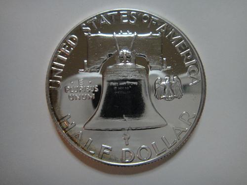 1961 Proof Franklin Half Dollar Proof-65 (GEM) Near Full Bell Lines