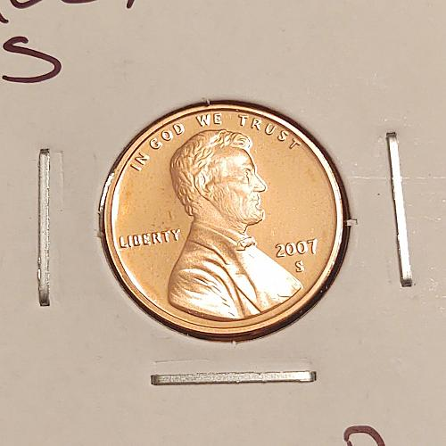 2007 S Lincoln Memorial Cent Small Cent