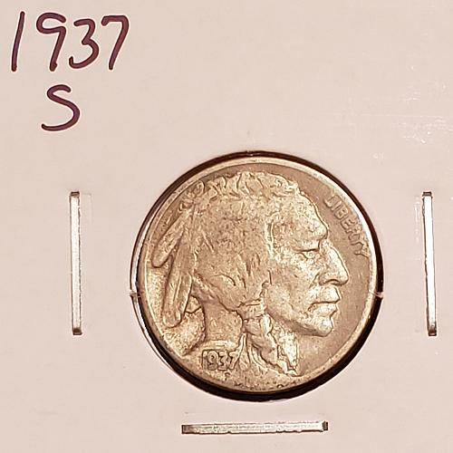 1937 S Buffalo Nickel