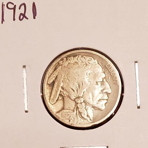1921 P Buffalo Nickel