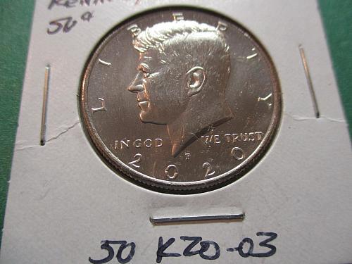 2020-P  Kennedy Half Dollar.  Item: 50 K20-03.