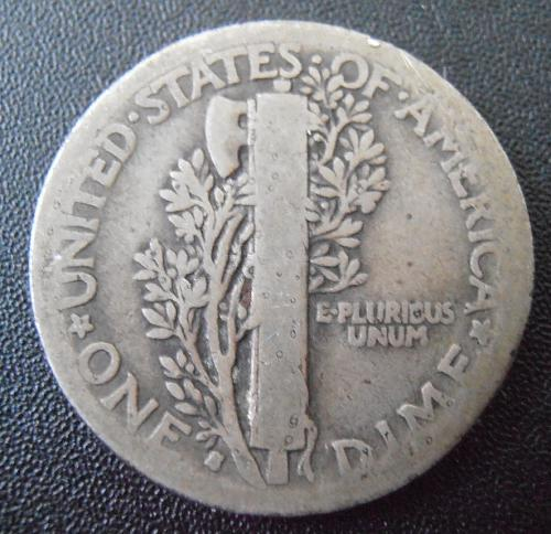 1916 S Mercury Silver Dime (16SAC2)