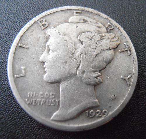1929 P Mercury Silver Dime (29PAC2)