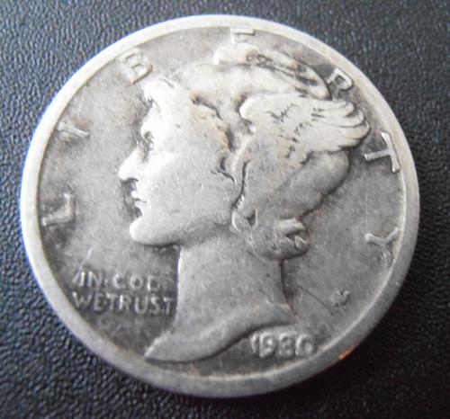 1930 P Mercury Silver Dime (30PAC2)
