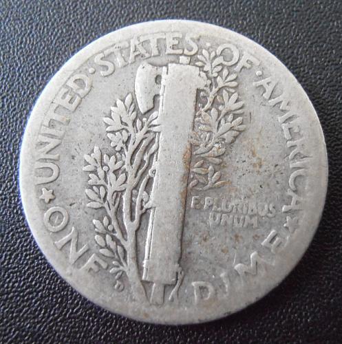 1926 D Mercury Silver Dime,  (26DAC3)