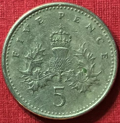 Great Britain - 1991 - 5 Pence