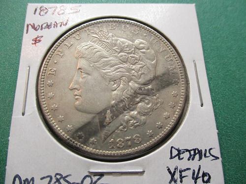 1878-S  XF40 Details  Morgan Dollar.  Item: DM 78S-02.