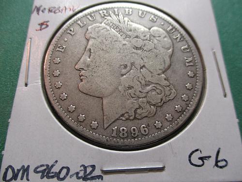 1896-O  G6 Morgan Dollar. Item: DM 96O-02.