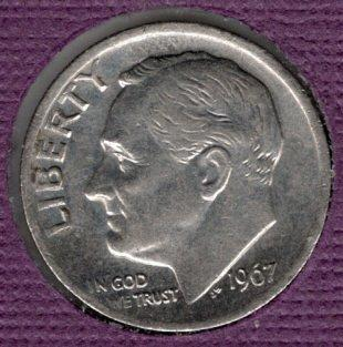 1967p Roosevelt Dime (SMS) - #3