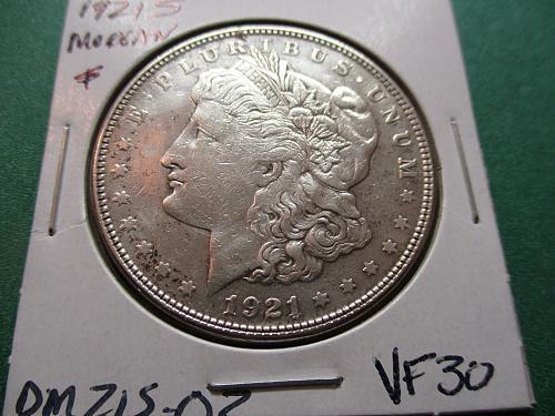 1921-S  VF30 Morgan Dollar.  Item: DM 21S-02.