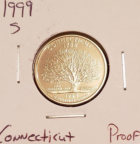 1999 S Connecticut 50 States and Territories Quarter -Proof